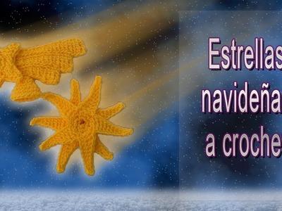 Estrellas navideñas a crochet (Estrella fugaz) muy fáciles