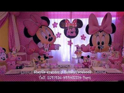 Fiesta Minnie bebe, minnie baby, decoración temática infantil, niñas
