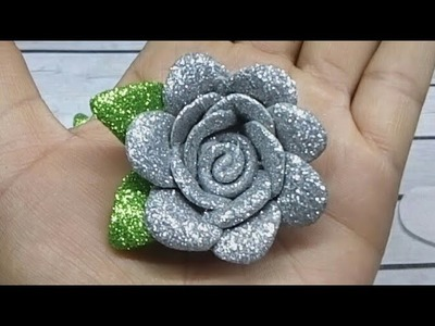 Flores de fomi fáciles de hacer.Канзаши - manualidades, goma eva,crafts,bows,Diy