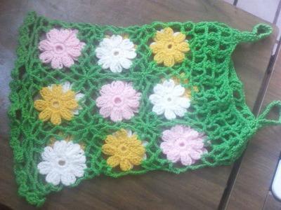 Ganchillo - Blusa tejida con flores