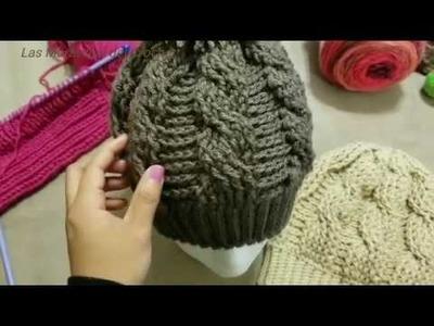 Gorro de Trenzas (Cables) a Crochet
