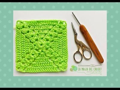 GRANNY SQUARE o cuadrado de la  abuelita a crochet - La Magia del Crochet-