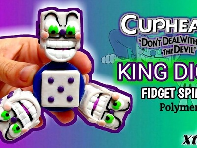 KING DICE SPINNER | CupHead | Polymer Clay Tutorial