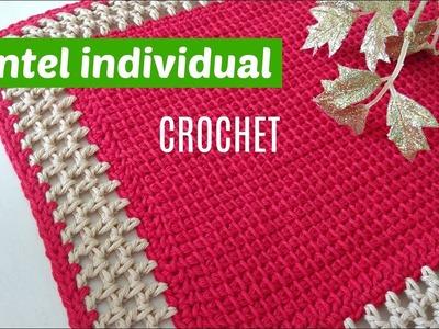 Mantel indiviadual tejido a crochet paso a paso