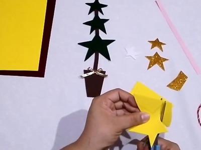 Manualidades Navideñas para Niños- Árbol de Navidad con Estrellas