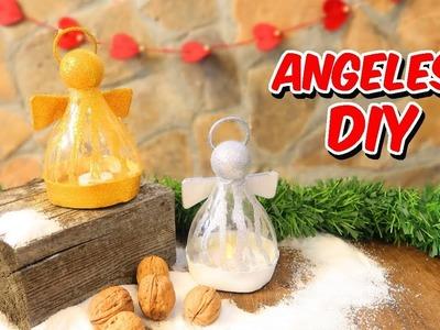 MANUALIDADES PARA NAVIDAD   ANGELITOS   DIY