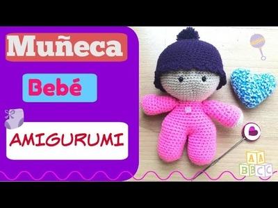 Muñeca bebé amigurumi a Crochet.Ganchillo. Baby doll crochet