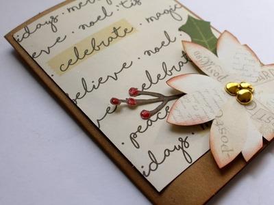 Nuevo Kit de materiales para scrapbook y tarjeta navideña * Scraptools