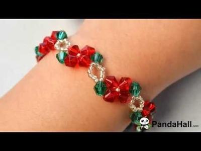 PandaHall original proyecto - DIY abalorios pulseras para Navidad