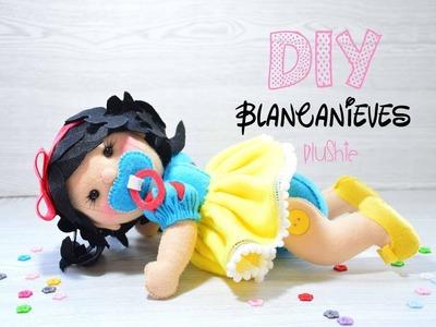 Paso a paso muñeca bebé Blancanieves 3D de fieltro.