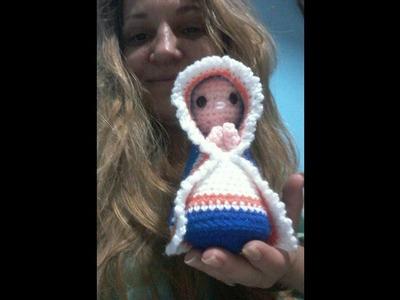 Pesebre al crochet:  VIRGEN MARÍA