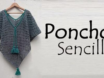 Poncho sencillo a crochet