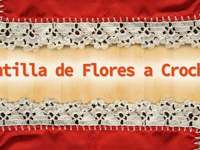 Puntilla de flores tejida a Crochet - Easy flower Crochet lace edging