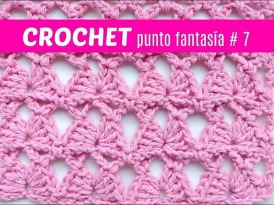 Puntos fantasia a crochet # 7