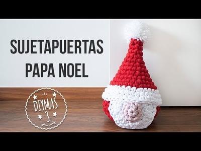 Sujetapuertas de Papa Noel de trapillo