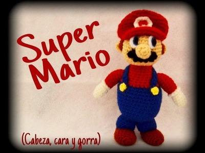 Super Mario (cabeza, cara y gorra) || Crochet o ganchillo.