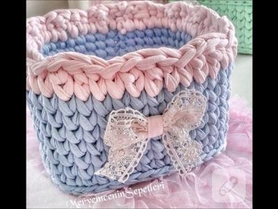 Top 10 crochet cestas de ganchillo o trapillo tejidas a mano para la casa