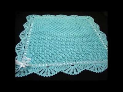 Top 10 crochet mantas de bebé tejidas a mano con ganchillo