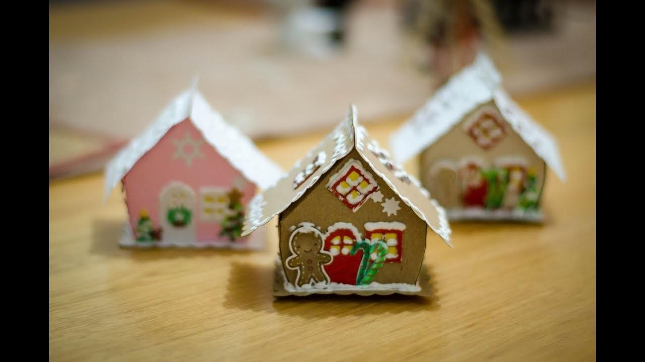 Tutorial Casita de Gengibre con papel. Dulcero especial de Navidad DIY