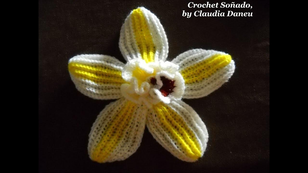 VANILLA CROCHET FLOWER. LA FLOR DE LA VAINILLA CROCHET
