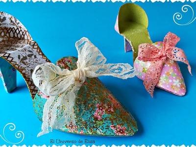 Zapato de Papel, Zapato María Antonieta, Adornos para el Árbol de Navidad