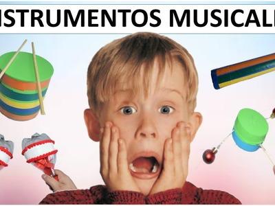 11 INSTRUMENTOS MUSICALES CON MATERIAL RECICLADO PARA NIÑOS (15 IDEAS PARA NAVIDAD)