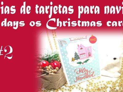 12 dias de tarjetas de Navidad 12 days of Christmas cards ???? #2 Tutorial