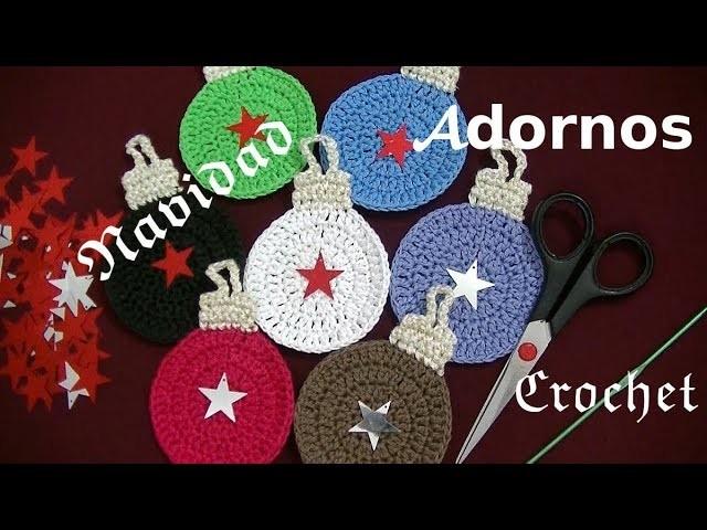 ADORNOS a #crochet o ganchillo para el árbol de Navidad tutorial paso a paso. Moda a Crochet