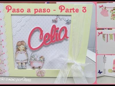 Álbum infantil niña paso a paso - Parte 3 + Bolsa personalizada (Scrapbooking  Dayka)