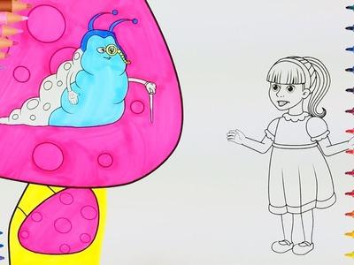 Alicia en el país de las Maravillas???? | Manos pequeñas Dibujos para Colorear