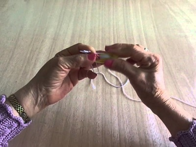 APRENDAMOS A TEJER FRIVOLIDAD  LECCION 7--  WE LEARN TO KNIT FRIVOLITY LESSON 7