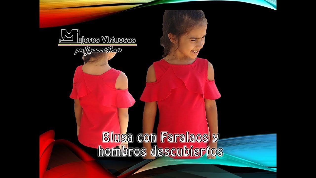 Blusa con faralaos y hombros al aire madre e hija