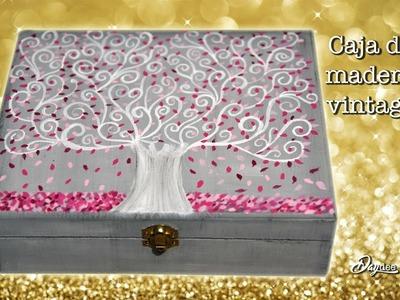 Caja vintage madera. Navidad 2017. Regalos de navidad