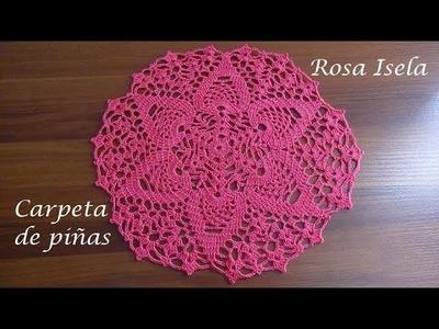Carpeta de piñas Crochet