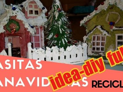 Casitas navideñas de carton Ideas  para navidad, manualidades de navidad,
