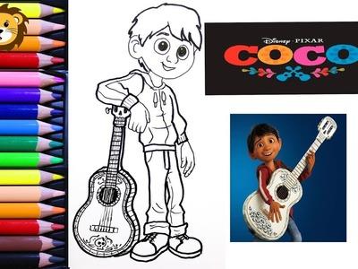 Como Dibujar - Miguel - Coco - Disney -  Dibujos para niños - Draw and Coloring Book for Kids