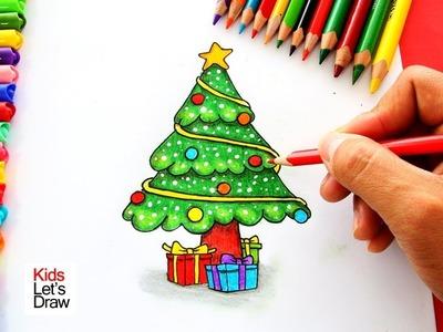 Cómo dibujar un Árbol de Navidad | How to Draw a Christmas Tree - 2