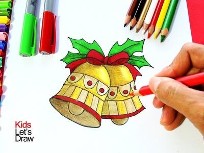Cómo Dibujar una CAMPANA de Navidad | How to draw Christmas bells