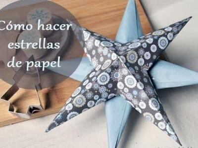 Cómo hacer estrella de papel para Navidad (rápida y sencilla)