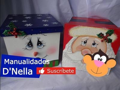 """Como Hacer Manualidades Fácilies de Navidad 2 Parte .By:""""Taller Nella 2017"""""""