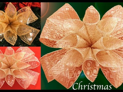 Como hacer moños para decorar el árbol de Navidad