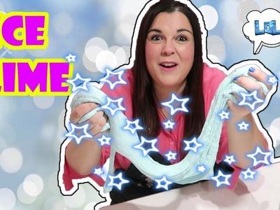Como hacer slime Ice slime de hielo ❄  slime de nieve ⛄ Slime de navidad ???? LOL Retos Divertidos
