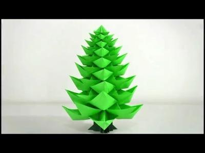 Cómo hacer un Árbol de Navidad de papel: Origami