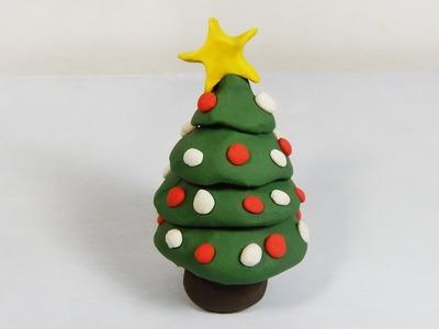 Cómo hacer un arbolito de navidad de plastilina paso a paso fácil, explicado