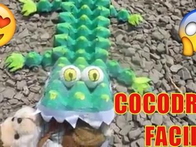 COMO HACER UN COCODRILO PASO A PASO idea caimán dinosaurio ( MANUALIDADES) -#1