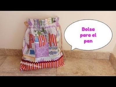 Cómo hacer una BOLSA PARA EL PAN???? How to make BREAD BAG(English subtitles)