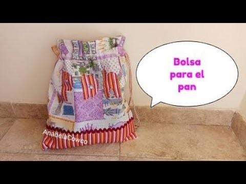 Cómo hacer una BOLSA PARA EL PAN???? How to make BREAD BAG(English subtitles)