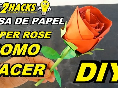 ???? COMO HACER UNA FLOR ROSA DE PAPEL - ORIGAMI. ???? HOW TO MAKE A ROSE PAPER FLOWER - ORIGAMI DIY