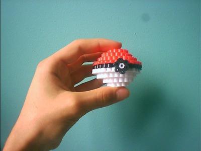 Cómo hacer una Pokéball en 3D | Hama Beads
