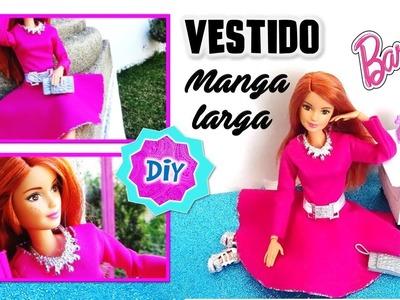 Como hacer VESTIDO Elegante para MUÑECAS Barbie. Ropa y MANUALIDADES PARA MUÑECAS